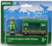 Brio 33894 Cargo Engine with Driver